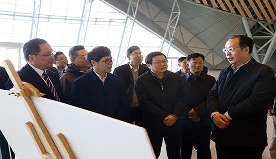 周喜安副省长考察滨湖会展中心